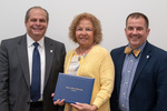 President David Glassman and Jay Gatrell, Vice President for Academic Affairs with Doris Darling by Beverly Cruse