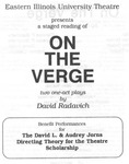 On The Verge (1997) by Theatre Arts