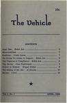 The Vehicle, April 1959, Vol. 1 no. 1 by Helen Lee, Linda Lyons, Jean Nightingale, Wayne Nelms, Al Brooks, and C. E. Schumacher