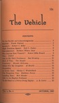 The Vehicle, October 1959, Vol. 1 no. 4 by Frank Pialorsi, Robert C. Miller, Neil O. Parker, Barbara Wilson Daut, Robert Mills French, Bud Bromley, The Skeptic, Rhonda McGowan, Al Brooks, Gladys C. Winkleblack, Kathleen Ferree, Bert Browder, and A. B. Carter