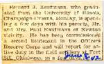 2nd Lt. Bernard J. Kaufmann graduates from University of Illinois 6-5-1942
