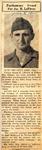 Posthoumos Silver Star for James R. LeFever 4-5-1945