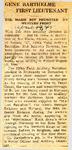 Gene Barthelme First Lieutenant 4-19-1945
