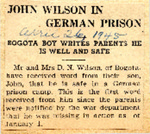 John Wilson in German Prison 4-26-1945