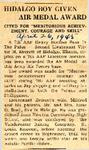Hidalgo Boy Given Air Medal Award (2LT Victor M. Everett) 4-26-1945