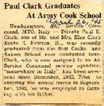 Paul Clark Graduates Ar Army Cook School 4-26-1945