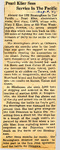 Pearl Klier Sees Service In The Pacific 8-2-1945