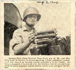 Seaman First Class Donovan Dean Scott on carrier in Pacific 8-3-1945