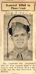 Reported Killed In Plane Crash (1LT Don Whitehurst) 8-9-1945