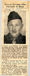 Returns To Camp After Furlough At Home (PVT Lyle Bollman) 8-9-1945