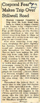 Corporal Fear Makes Trip Over Stillwell Road 8-14-1945