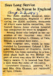 Sees Long Service As Nurse In England (1LT Marian L. Chaney) 8-23-1945