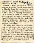 Rober Y. Robb Is Visiting Here 8-24-1945