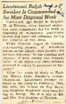 Lieutenant Ralph Swisher Is Commended for Mine Disposal Work 8-28-1945