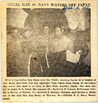 Local Man in Navy Waters off Japan (Burton L. Bevis) 12-6-1945 by Newton Illinois Public Library