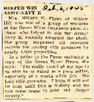 Helped Win Army-Navy E (Millard E. Flynn) 2-6-1945