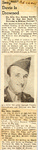 Sergeant Davis Is Drowned 2-23-1945