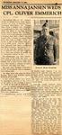 Miss Anna Jansen Weds CPL. Oliver Emmerich 1-11-1945
