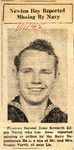 Newton Boy Reported Missing By Navy (Fireman First Class Edgar Varvil) 1-11-1945