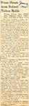 Press Hears from Robert Yelton Robb 1-16-1945