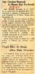 Sgt. Gordon Romack Is Home For Furlough / Virgil Bliss At Home After Duty Overseas 1-18-1945