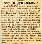 SGgt. Huber Missing 1-18-1945