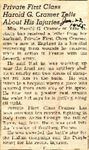 Private First Class Harold G. Cramer Tells About His Injuries 1-23-1945