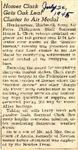 Homer Clark Gets Oak Leaf Cluster to Air Medal 7-24-1945