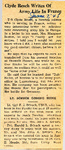 Clyde Resch Writes Of Army Life In France / Lt. Schuch Coming Home 6-7-1945