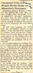 Lieutenant John S. Wright Writes Home on Mussolini's Stationary 6-26-1945
