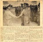 LT Florent J Schuch receives Air Medal (photo) 6-28-1945