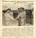 Lieutenant Florent J. Schuch Receives Air Medal 6-29-1945