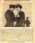 Bronze Star for Captain Paul Birch 3-1-1945