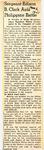 Sergeant Edison B. Clark Aids Philippine Battle 3-6-1945