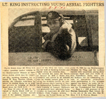 Lt. King Instructing Young Aerial Fighters (Daniel W. King) 3-9-1945