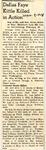 Dallas Faye Kittle Killed in Action 3-9-1945