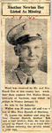 Another Newton Boy Listed As Missing (PVT Walter Shaw) 3-9-1945