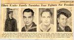 Elbert Kinder Family Furnishes Four Fighters For Freedom (Lamar, Wayne, & Marion Kinder, & SGT Karl Hamilton) 3-15-1945