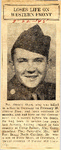 Loses Life on Western Front (PVT Donald Short) 3-22-1945
