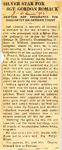 Silver Star for SGT. Gordon Romack 3-22-1945