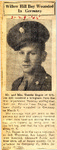 Willow Hill Boy Wounded In Germany (Leon Ragon) 3-29-1945