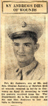 Ky Andrews Dies of Wounds 5-3-1945