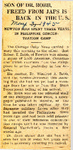 Son of Dr. Robb, Freed from Japs is Back in the U.S. (Robert Y. Robb) 5-3-1945