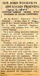 SGT. John Welker in Advanced Training 5-3-1945