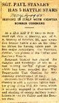 SGT. Paul Stanley has 5 Battle Stars 5-3-1945