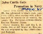 John Curtis Gets Promotion in Navy 5-31-1945