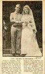 Corporal and Mrs. Victor Kibler (Geraldine McKnight weds Victor A. Kibler) 1945