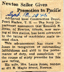 Newton Sailor Given Promotion In Pacific (Kenneth E. Jones) 9-13-1945