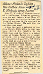 Albert Nichols Cables His Father John E. Nichols, from Japan / No Word from Elmer Ervin 9-18-1945