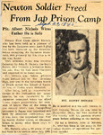 Newton Soldier Freed From Jap Prison Camp (PFC Albert Nichols) 9-20-1945 by Newton Illinois Public Library